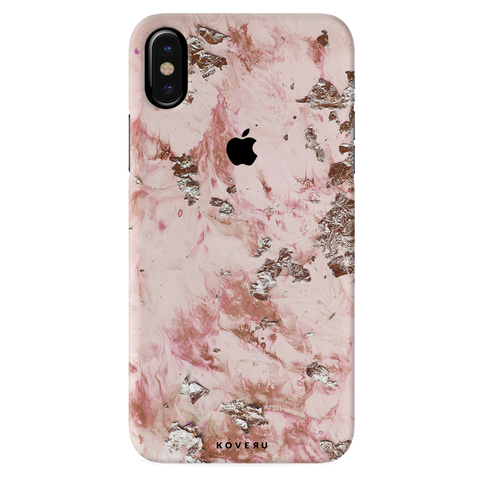 Pink Marble Cover Case For iPhone XS