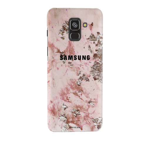 Pink Marble Cover Case for Galaxy A8 Plus