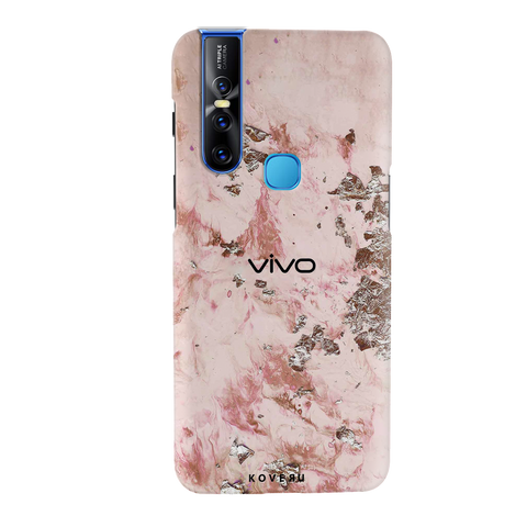 Pink Marble Cover Case for Vivo V15