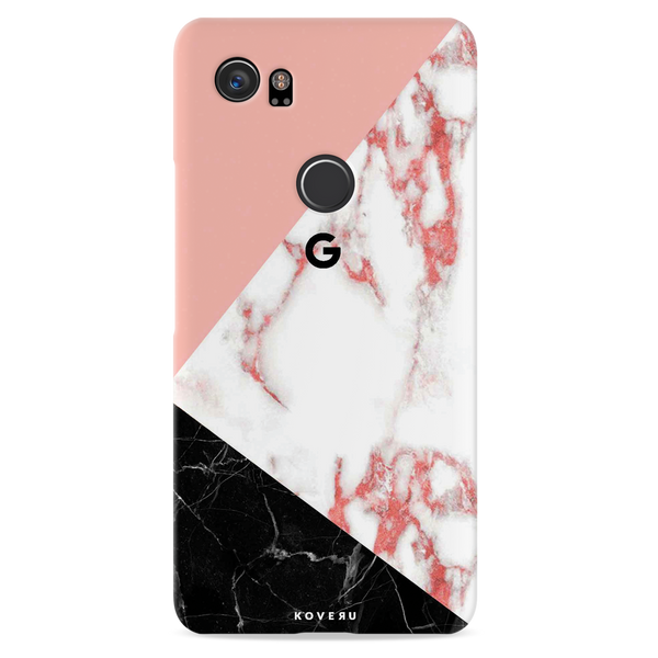 Peach Geometric Marble Cover Case For Google Pixel 2 XL