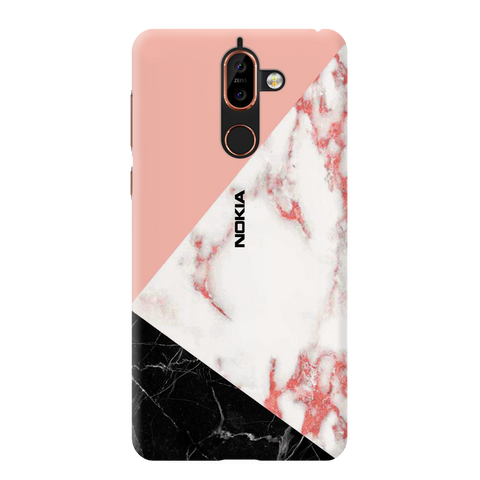 Peach Marble Cover Case for Nokia 7 Plus