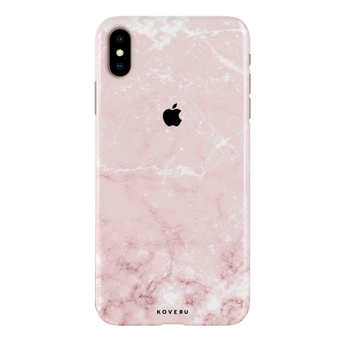 Baby Pink Marble Cover Case For iPhone XS Max