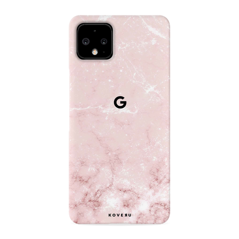 Baby Pink Marble Cover Case for Google Pixel 4