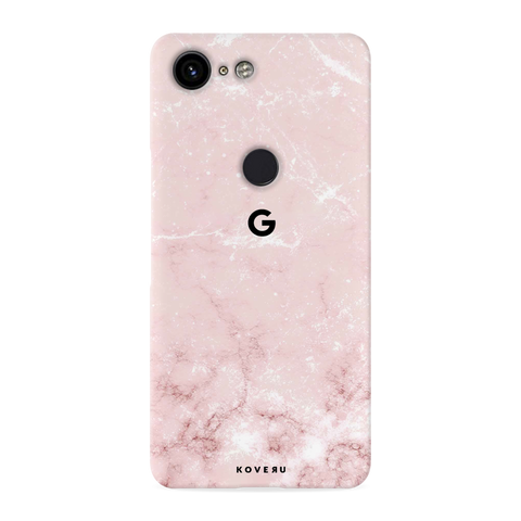 Baby Pink Marble Cover Case for Google Pixel 3 XL