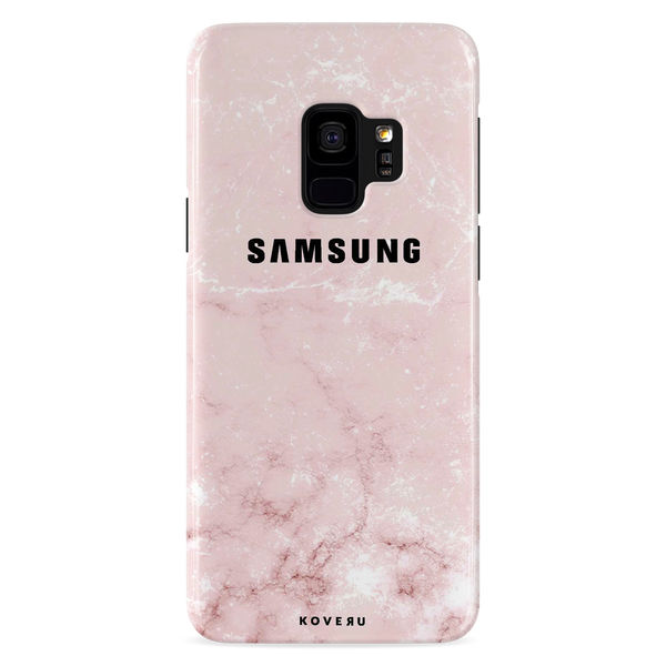 Baby Pink Marble Cover Case For Samsung Galaxy S9