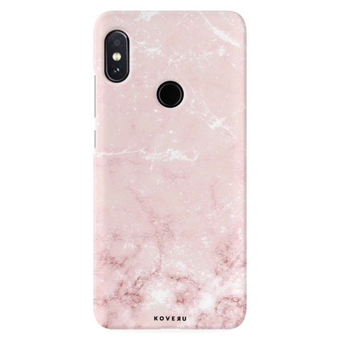 Baby Pink Marble Cover Case for Redmi Note 5 Pro