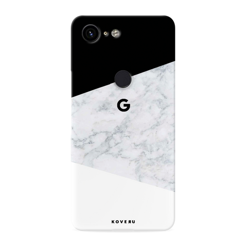 White Marble Cover Case for Google Pixel 3 XL