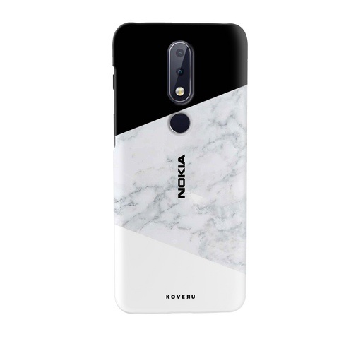 White Marble Cover Case for Nokia 6.1 Plus