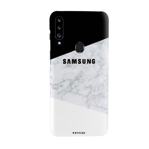 White Marble Cover Case for Samsung Galaxy A20S