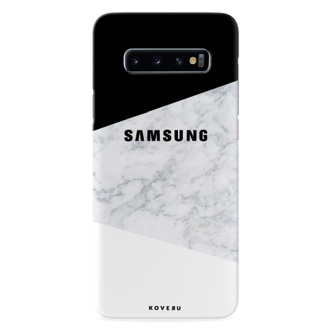 White Marble Cover Case for Samsung Galaxy S10