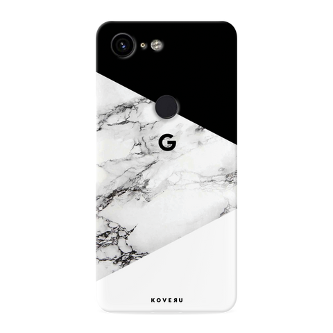 Black and white Marble Cover Case for Google Pixel 3 XL