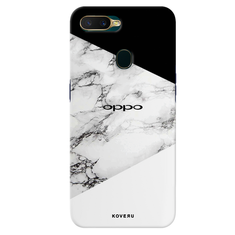 Black and white Marble Cover Case for Oppo A7