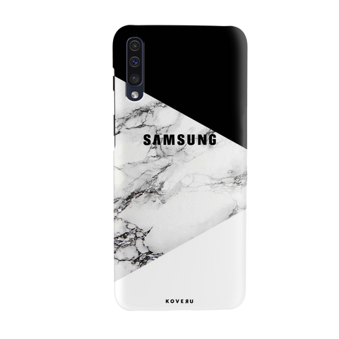 Black and white Marble Cover Case for Samsung Galaxy A50