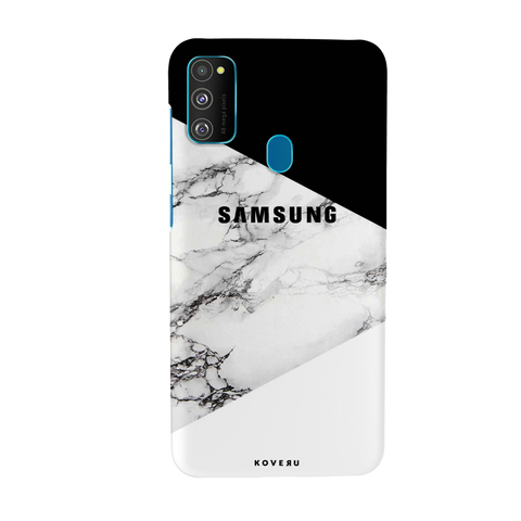 Black and white Marble Cover Case for Samsung Galaxy M30S