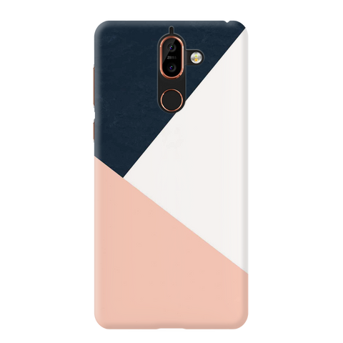 Blue triangular Pattern Cover Case for Nokia 7 Plus