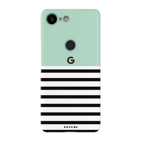 Stripes on Green Cover Case for Google Pixel 3 XL