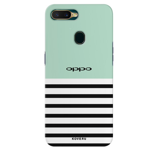 Stripes on Green Cover Case for Oppo A7