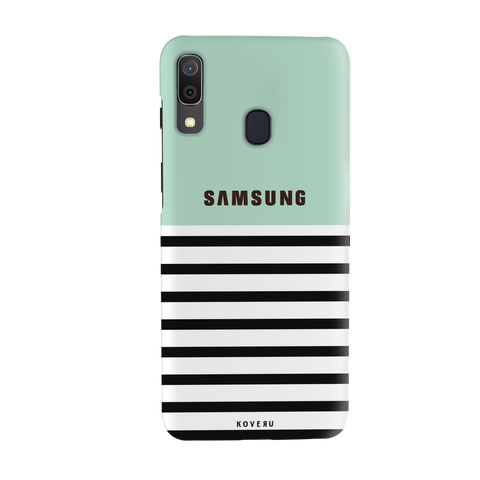 Stripes on Green Cover Case for Samsung Galaxy A20