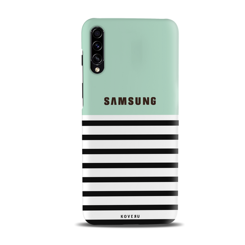 Stripes on Green Cover Case for Samsung Galaxy A30S