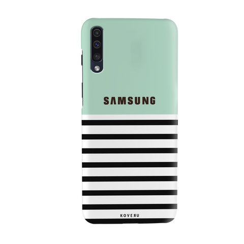 Stripes on Green Cover Case for Samsung Galaxy A50