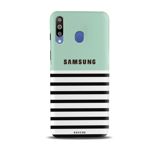 Stripes on Green Cover Case for Samsung Galaxy M30