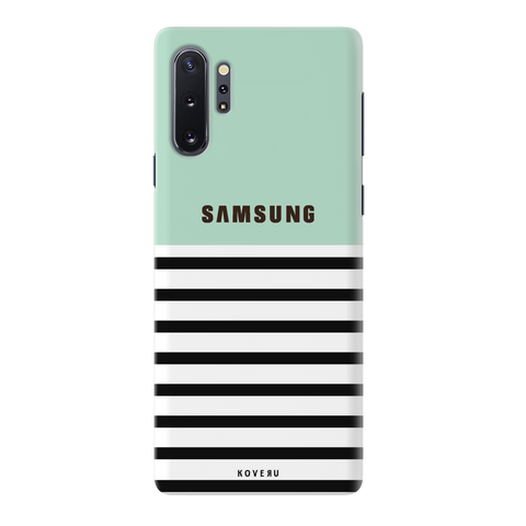 Stripes on Green Cover Case for Samsung Galaxy Note 10 Plus