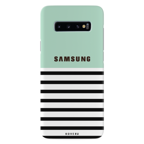 Stripes on Green Cover Case for Samsung Galaxy S10