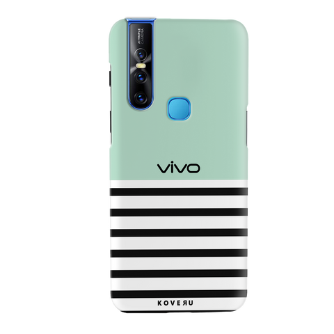 Stripes on Green Cover Case for Vivo V15