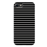 White Stripes On Black Cover Case For iPhone 7/8
