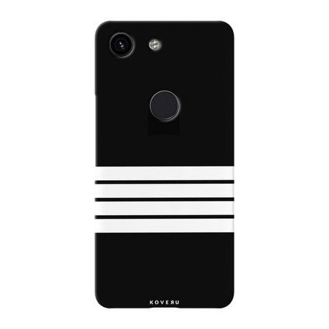 White Strips Cover Case for Google Pixel 3A
