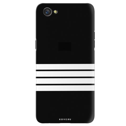 White Strips Cover Case for Oppo A3