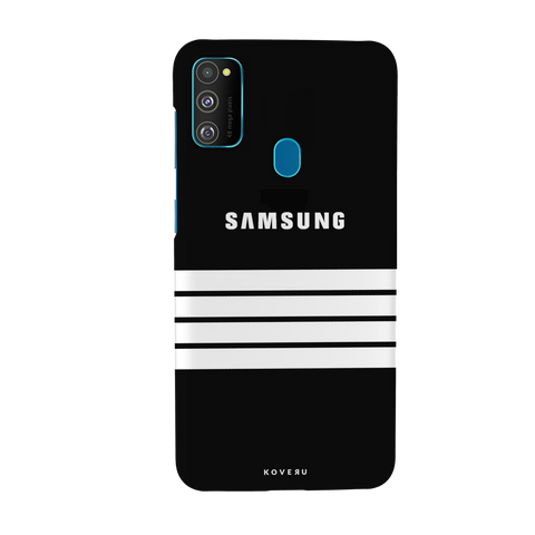 White Stripes Cover Case for Samsung Galaxy M30S