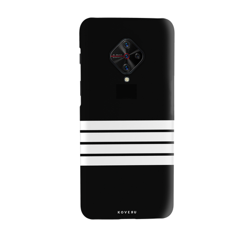 White Strips Cover Case for Vivo S1 Pro