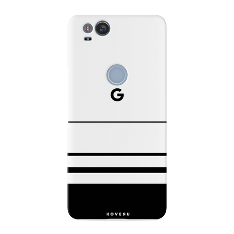 White Horizon Stripes Cover Case For Google Pixel 2