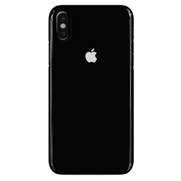 Jet Black Cover Case For iphone X