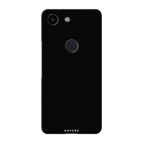 Jet Black Cover Case for Google Pixel 3A