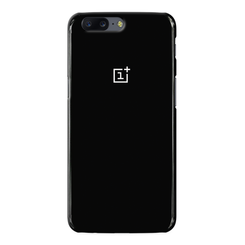 Jet Black Cover Case For One Plus 5