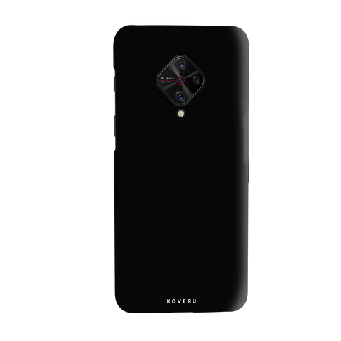 Jet Black Cover Case for Vivo S1 Pro