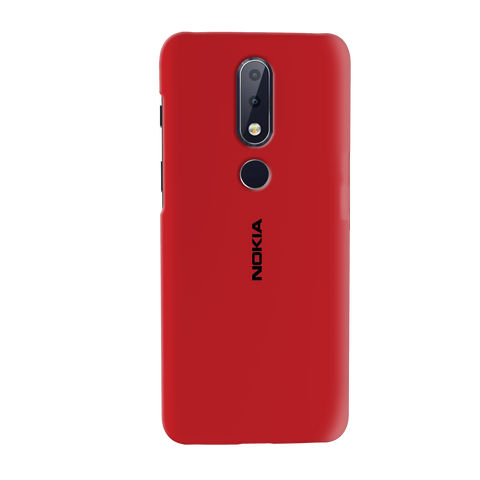 Blood Red Cover Case for Nokia 6.1 Plus