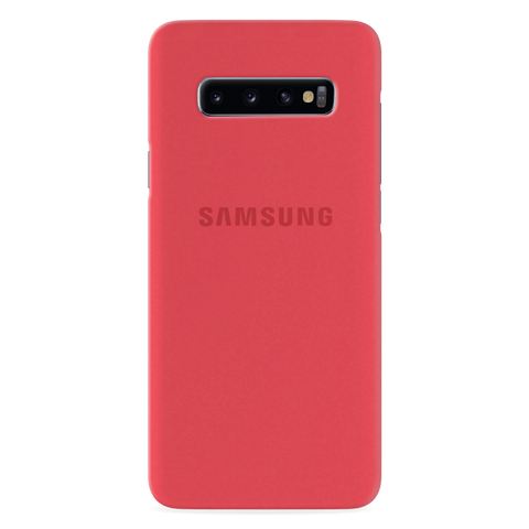 Red Solid Cover Case for Samsung Galaxy S10