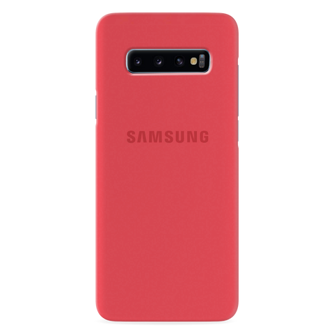 Red Solid Cover Case for Samsung Galaxy S10 Plus