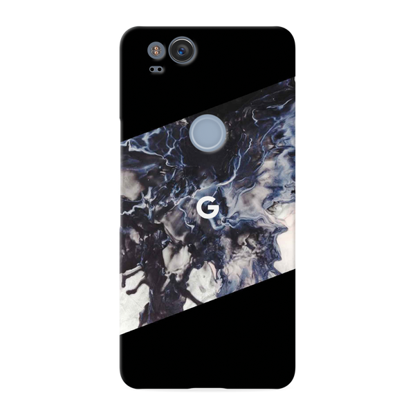 Black Splash Cover Case For Google Pixel 2