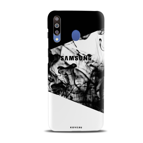 White Splash Cover Case for Samsung Galaxy M30