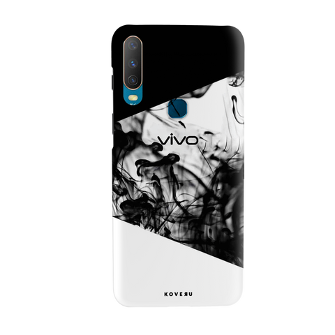 White Splash Cover Case for Vivo Y17