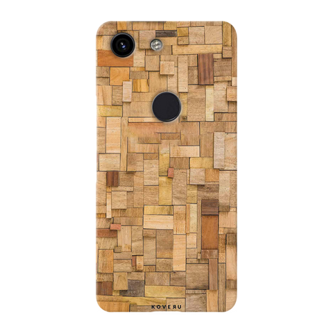 Square Wooden Cover Case for Google Pixel 3A
