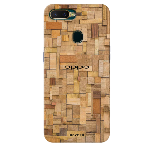 Square Wooden Cover Case for Oppo A7