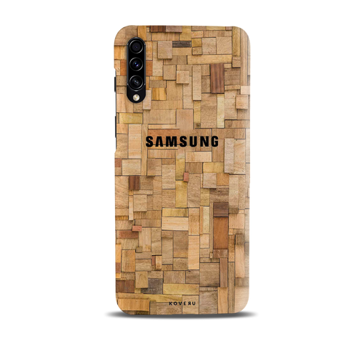 Square Wooden Cover Case for Samsung Galaxy A50S