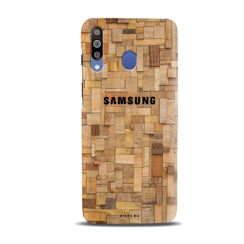 Square Wooden Cover Case for Samsung Galaxy M30
