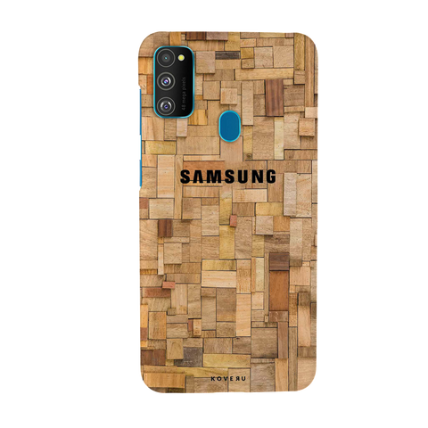 Square Wooden Cover Case for Samsung Galaxy M30S