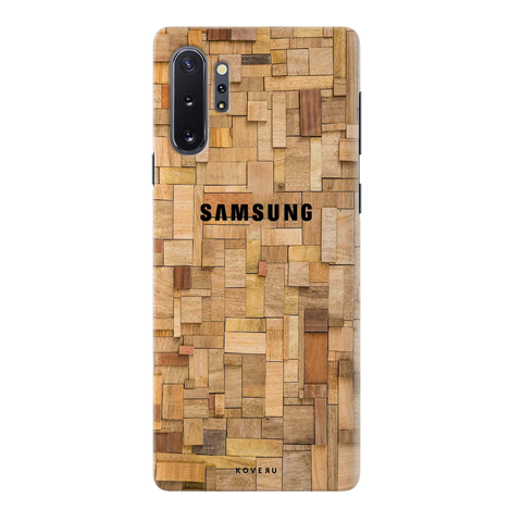 Square Wooden Cover Case for Samsung Galaxy Note 10 Plus